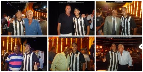 Edmar Junior com os ex-jogadores Maneco, Rodolfo Rodríguez, Negreiros, Lima, Edu e Lalá