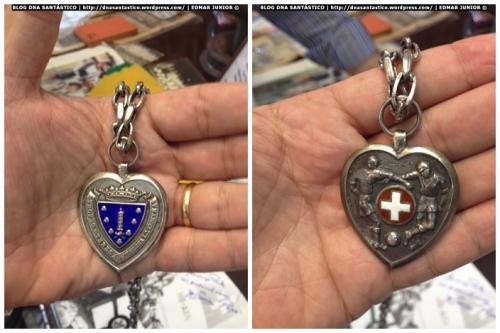 Medalha (frente e verso) referente do Troféu Teresa Herrera