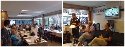Evento da Embaixada do Peixe em Brasília-DF com as presenças de Mengálvio e Robert