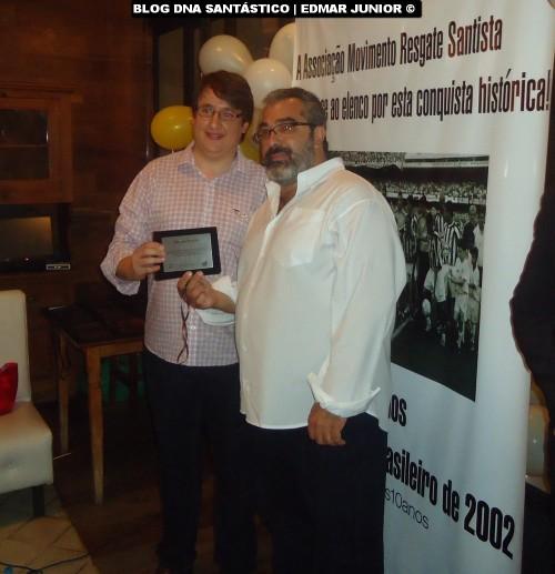 Marcos Maldonado recebeu homenagem em nome do ex-Presidente Marcelo Teixeira.