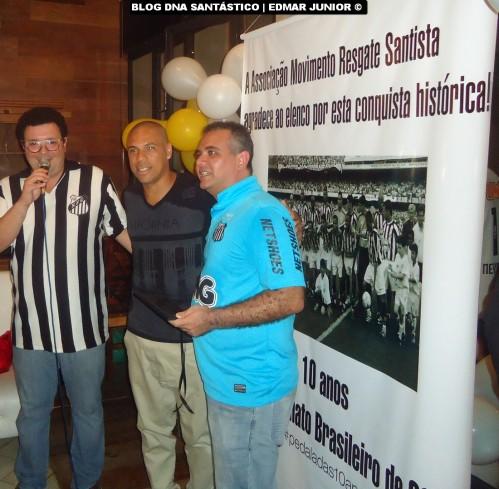 Michel recebeu homenagem de Rubens Palma (Diretor de Assuntos Políticos da Resgate Santista)