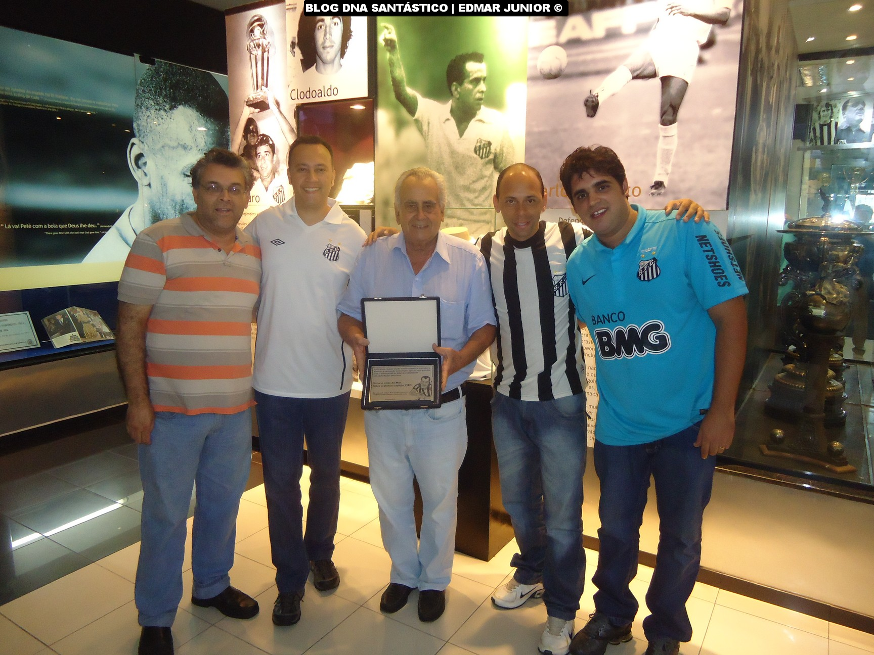 Prof. Guilherme Nascimento, Edmar Junior, Zito, Alex Santos e Wesley Miranda