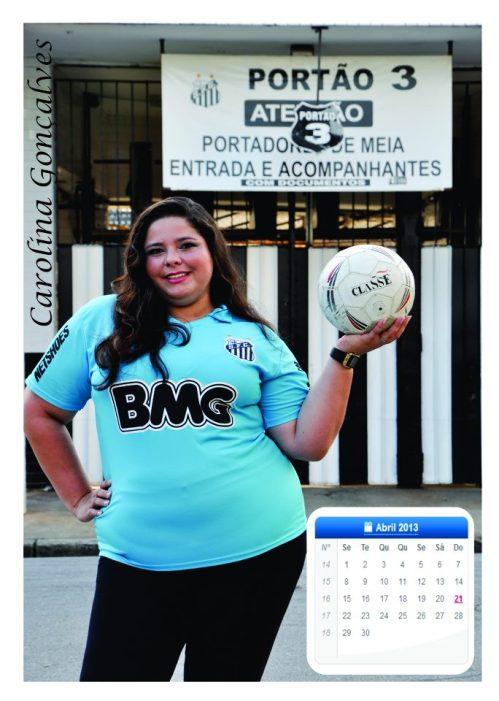 Carolina Goncalves - Calendario Plus Size - Blog DNA Santastico