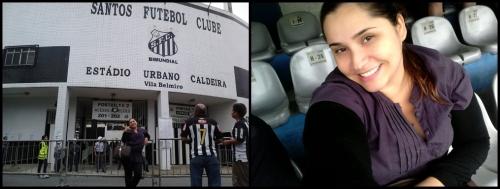 Fabiana Camilo na Vila Belmiro