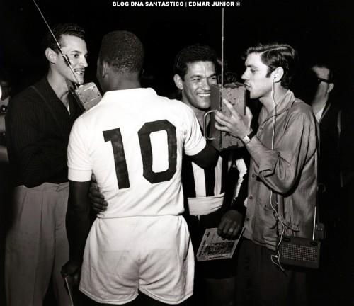 O Santos de Pelé e o Botafogo de Garrincha protagonizaram grandes jogos nos anos 60.