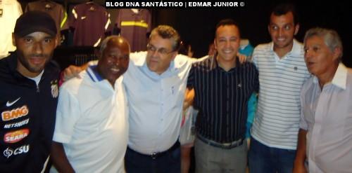 Edinho, Edu, Prof. Guilherme Nascimento, Edmar Junior, Edu Dracena e Clodoaldo