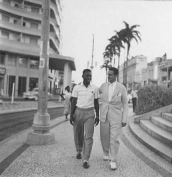 Pelé e o Presidente Athié Jorge Cury