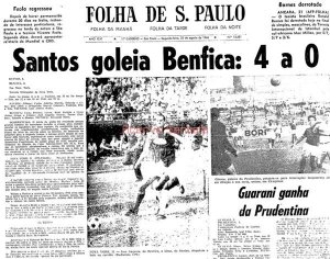Santos 4 x 0 Benfica - NYC 1966 - Blog DNA Santastico
