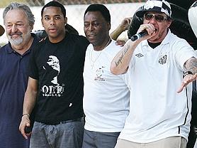 Presidente Luis Alvaro, Robinho, Pelé e Chorão