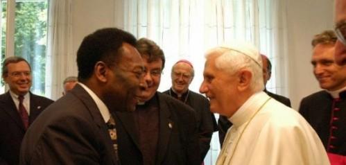 Pelé e o Papa Emérito