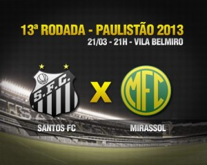 Santos x Mirassol - Paulistao 2013 - Blog DNA Santastico