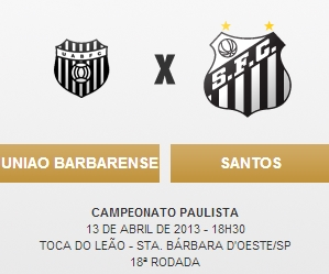 Uniao Barbarense x Santos - Blog DNA Santastico