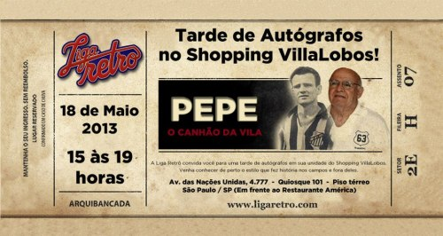 Convite Liga Retro - Pepe - Blog DNA Santastico