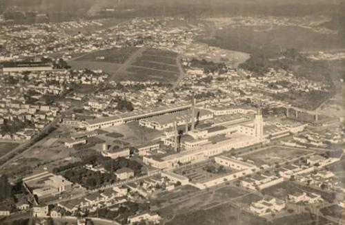 Bairro industrial do Vianelo nos anos 50, em Jundiaí (SP). Crédito: skyscrapercity.com.