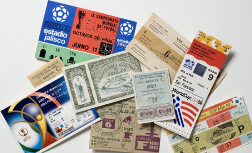Ingressos de todas as edições da Copa do Mundo