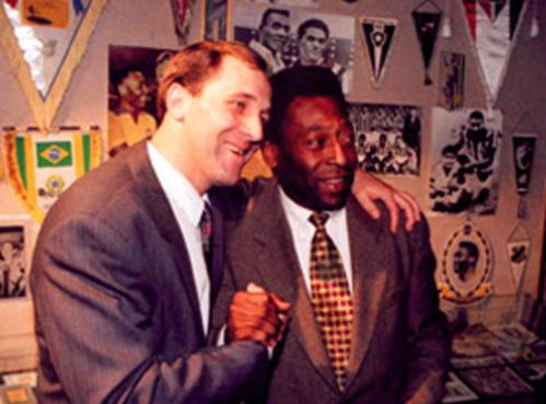 Nikolai Hudobin e Pelé