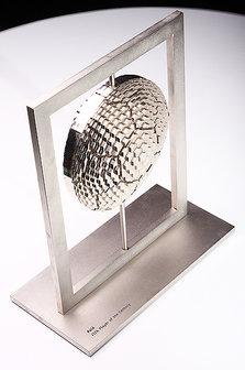 Prêmio de jogador do século XX entregue pela Fifa; objetos do acervo pessoal de Pelé estão reunidos no livro 'As joias do rei', de Celso de Campos Jr. - Leo Feltran/Divulgação