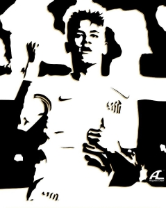 Neymar - Arte Augusto Cezar - Blog DNA Santastico