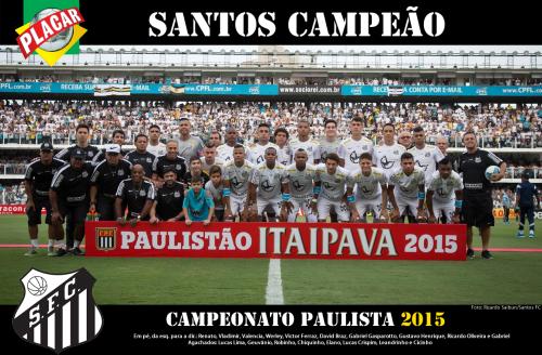 Santos Campeão Paulista de 2015 - Blog DNA Santástico
