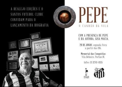 Convite - Livro Pepe O Canhão da Vila - Blog DNA Santástico