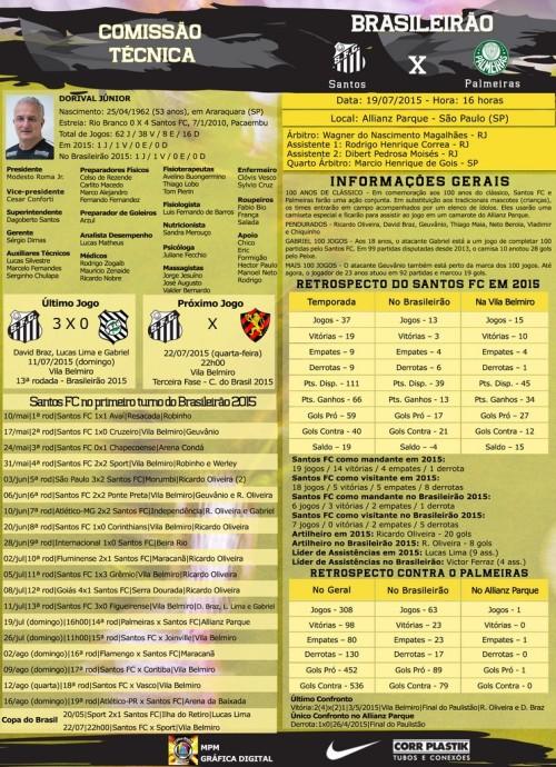 Palmeiras x Santos - 19072015 - Blog DNA Santástico