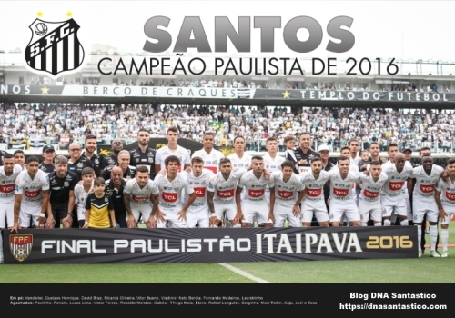 Santos Campeão Paulista 2016 - Blog DNA Santastico