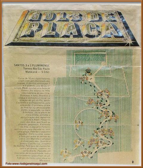 Gol de Placa - Pelé - Maracanã - Blog DNA Santástico